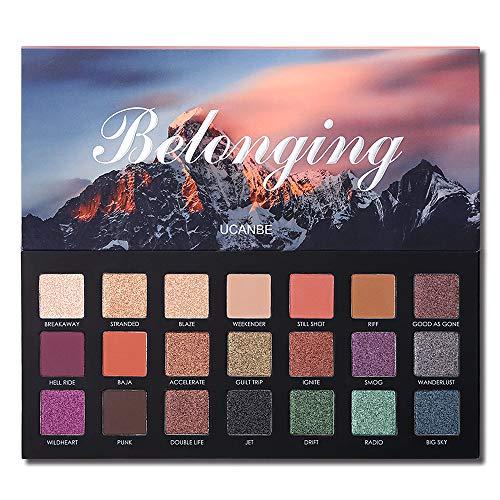 Metallic Palette (UCANBE 21 Colors Belonging Pigmented Eyeshadow Makeup Palette, 6 Matte and 15 Shimmer Blending Eye Shadow, Waterproof Long Lasting Powder Make Up Set)