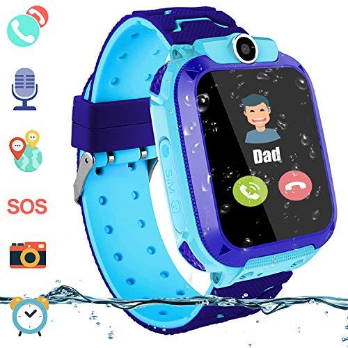PTHTECHUS Kinder Intelligente Uhr Wasserdicht, Smartwatch LBS Tracker mit Kinder SOS Handy Touchscreen Spiel Kamera…