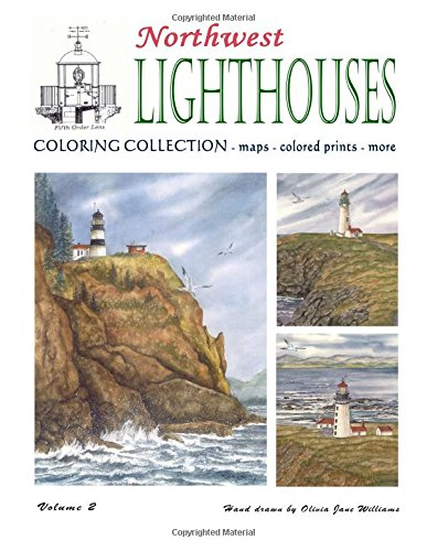 Northwest Lighthouse Coloring Collection - Vol. 2