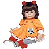 Adora ToddlerTime Girl Doll, Macaraccoon, Weighted Vinyl Baby Doll Toy with Soft Body, 20-inch (Ages 6+)