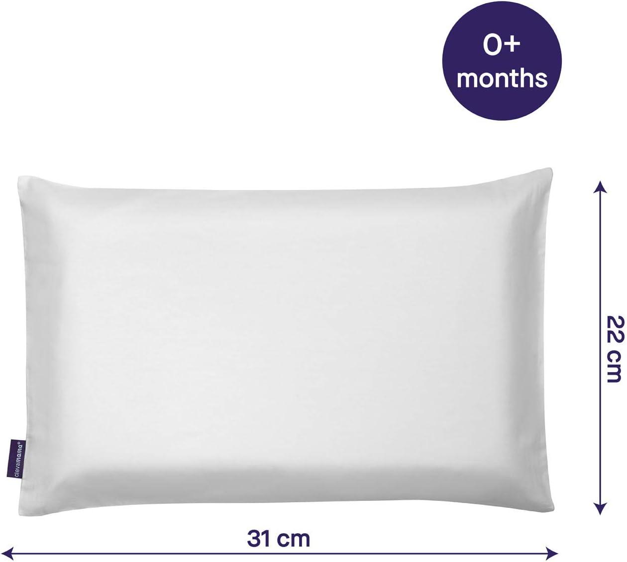 100/% Cotton Grey 31 X 22 Cm Clevamama Clevafoam Pram Pillow Case