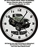 DODGE MILITARY POWER WAGON WALL CLOCK-FREE USA SHIP!