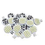 Grv T10 921 LED Bulb Light 921 194 24-3528 Smd Lamp Super Bright AC DC 12V 24V Cool White Version 2.0 Pack of 20