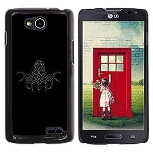 LECELL -- Funda protectora / Cubierta / Piel For LG OPTIMUS L90 / D415 -- Kraken Octopus Detailed Illustration --