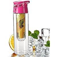 Botella de agua con infusor de frutas