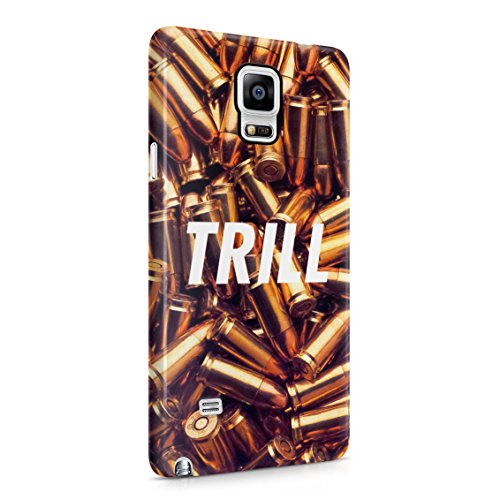 Trill High Life War Fight Wartime Golden Bullets Plastic Phone Snap On Back Case Cover Shell For Samsung Galaxy Note 4 (Wartime Note)