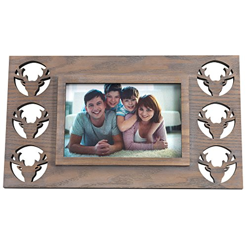 BingYes Wood Picture Frames, Elk Element, Matted for 4x6 5x7 inch Photo,Photo Frame, Perfect for Wedding, Offices, Restaurants, Business,Bedroom (88B) by BingYes