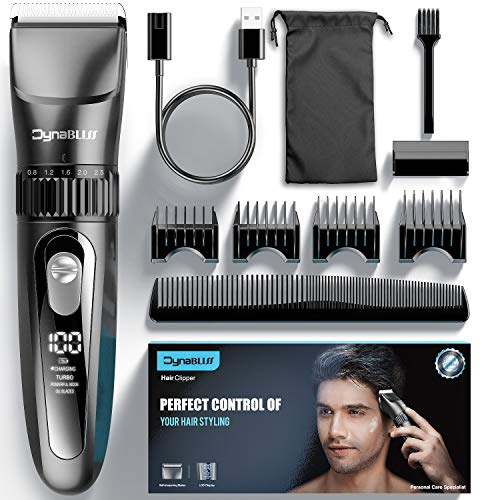 DynaBliss Hair Clippers for Men Professional,Cordless Clippers for Hair Cutting kit Electric Mens clipper for Barbers with LED Display