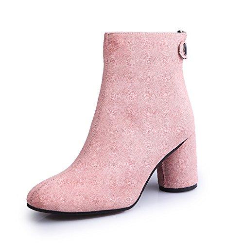 KHSKX-Neue High - Heel - Heels Rosa Einzelne Schuhe Martin Stiefel Frühling Herbst Und Winter Auf Der Koreanischen Ausgabe Thirty-eight