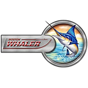 """Two Division Boston Whaler Boat Laminated Decal 13""""X7"""""""