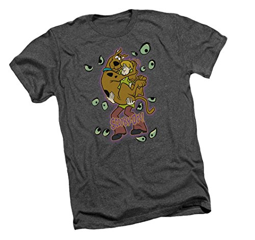 Being Watched -- Scooby Doo Adult Heather T-Shirt, -