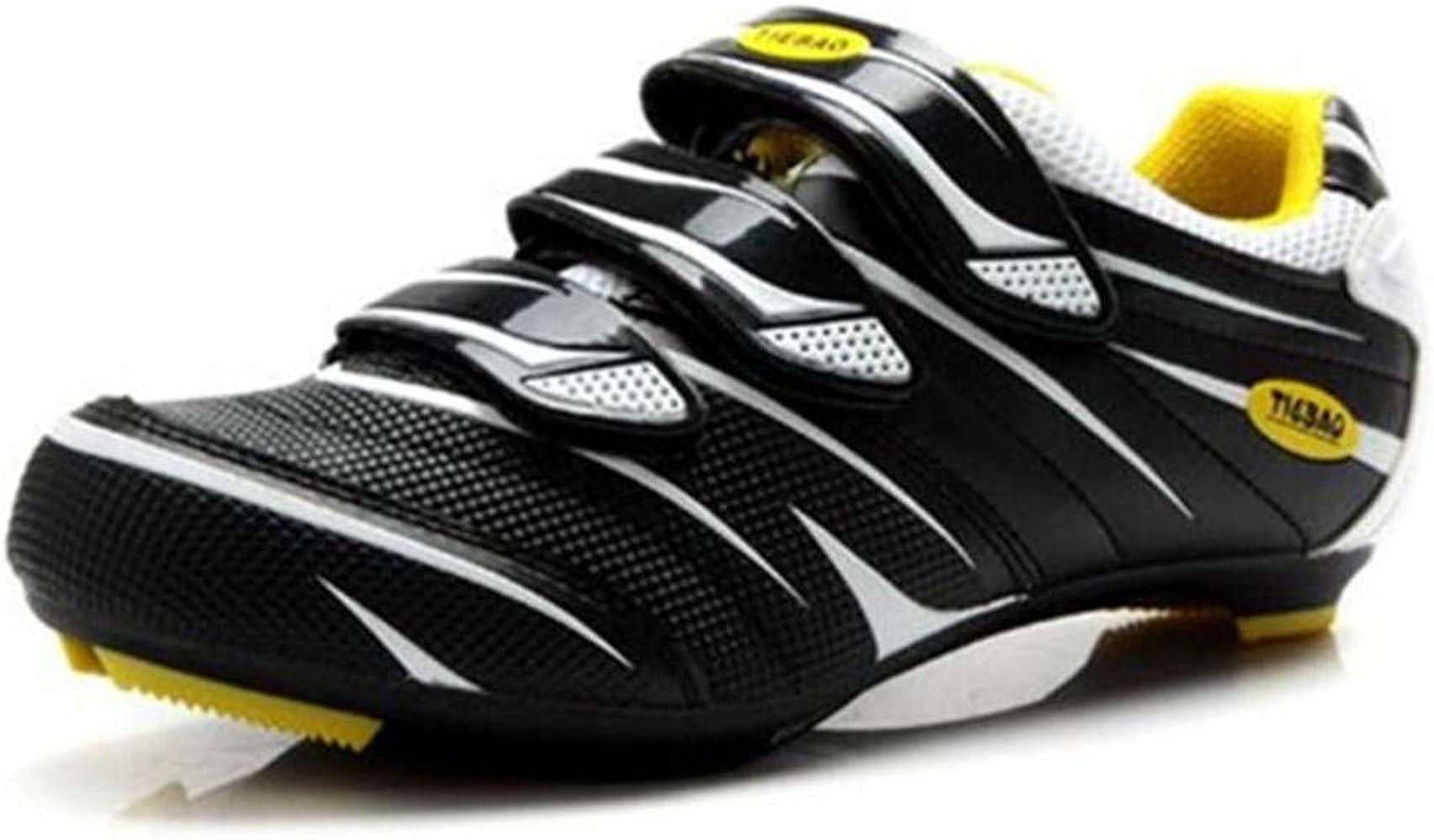Tiebao - Zapatillas de Ciclismo de Sintético para Hombre, Color ...