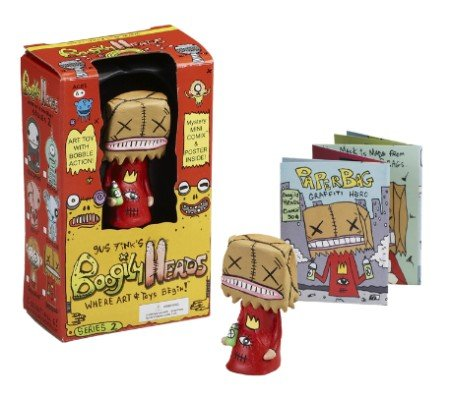 Gus Fink's Gold Paperbag Boogily Heads Series 2 Bobble Head Art Toy Limited (Gus Fink Boogily Heads)