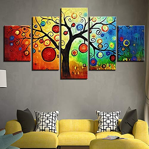 (KKJJ Abstract Wall Painting Van Gogh Big Tree Home Decoration Canvas Picture | Personalised Wall Art Decoration for Living Room, Bedroom, Hallway,80150cm)