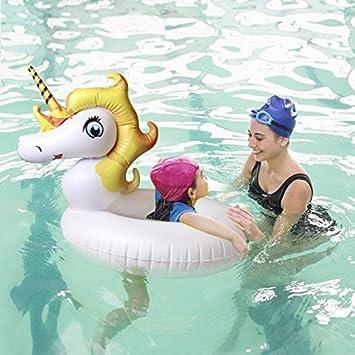 Flotador Inflable Juguete Hinchable para Piscina, Leeron Flotador de Unicornio Colchonetas Flotante para Playa, Anillo de la Natación, Silla de la ...