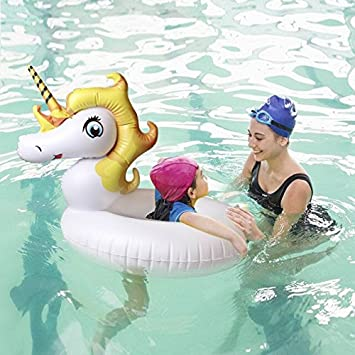 Flotador Inflable Juguete Hinchable para Piscina, Leeron Flotador de Unicornio Colchonetas Flotante para Playa,