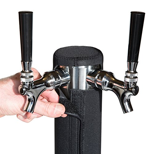 Double Faucet Cooler (Kegerator Tower Cooler for Beer Tower - Neoprene Design - Perfect Fit for Kegerator Tap Tower - Easy to Use Beer Tower Cooler Accessory (3.0