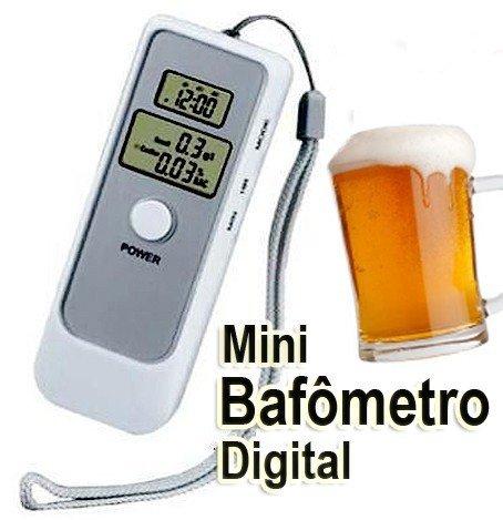 Bafometro Digital LCD C/Relogio Alarme e Termometro+ Brinde