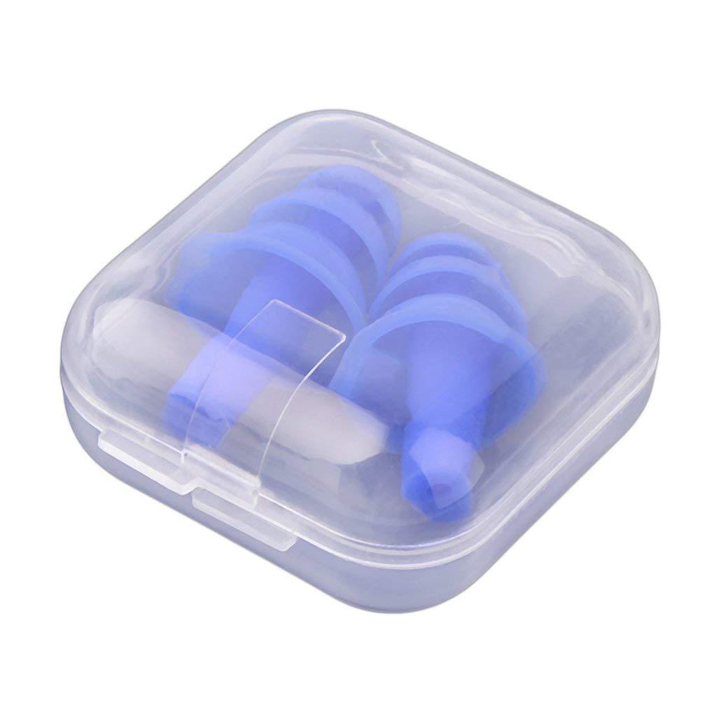 Yoelike Cancellazione di rumore orecchio riutilizzabile Tappi Tappi per le orecchie impermeabile del silicone con il caso per Sleeping nuoto ripresa di riduzione del rumore