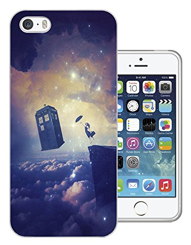 c1051 - Cool Floating Women Galaxy Doctor Who Tardis Out Of Space Design iphone 5 5S Fashion Trend Silikon Hülle Schutzhülle Schutzcase Gel Rubber Silicone Hülle