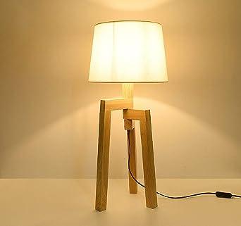 Lámpara de table-en de madera lámpara de pie Nordic Japanese ...