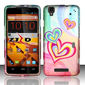 Cellphone Cover For ZTE Max N9520 / Boost MAX (Boost Mobile) Rubberized Design Cover - Heartception DP