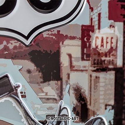 20 x 30 cm Nostalgic Art takaos-6313943-7 Nostalgic-Art 22164 Plaque en m/é tal Route 66 en Anglais