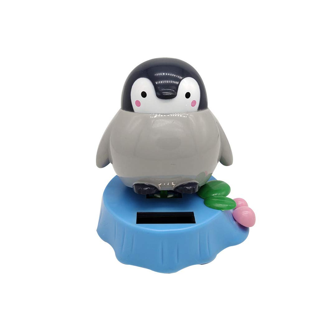 MAMaiuh Dancer Toy Solar Powered Dancing Penguin Swinging Animated Car Decoration Home Office Ornaments Best Birthday Holiday Gift H