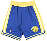 Mitchell and Ness 95-96 Golden State Warriors Mens Shorts in Blue