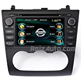 """2007-2012 Nissan Altima In-Dash GPS Navigation DVD CD Stereo Bluetooth Hands-free A2DP Music Streaming FM AM Radio USB MP3 SD AV Receiver Steering Wheel Controls iPod iPhone Ready 7"""" Touch Screen Multimedia Player AUDIO VIDEO Deck w/ Manual A/C"""
