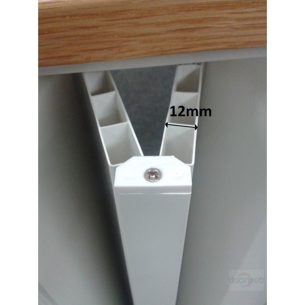 Internal Glazed PVC Concertina Folding Door White Gloss Lockable ...