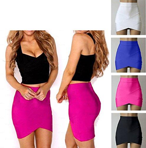 Irregolare Club Sexy Skirts da Strette a Estivo Donne Mini Partito Festa Moda Tubino Onlyoustyle Blu Gonne wEP78qvTPz