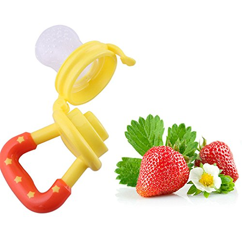 Baby Weaning Tool Baby Feeding Tool Fresh Safe Food Feeder Nibbler Safety (Yellow)