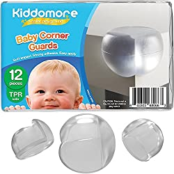 12 Pack Corner Protector Guards – Strong Child Proof Bumpers - Comes with My Baby Safety Tips Ebook - Best for Sharp Corners in Your Home
