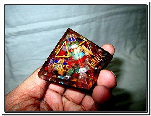 5 Elements Engraved Orgone Chakra Pyramid X-mas Crystal Gemstones Sacred Spiritual (Stone Illuminati)