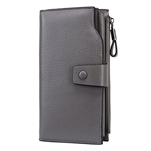 quilt leather wallet - 3