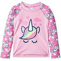 Camiseta Manga Longa Proteção Solar Surfista Unicórnio, TipTop, Meninas