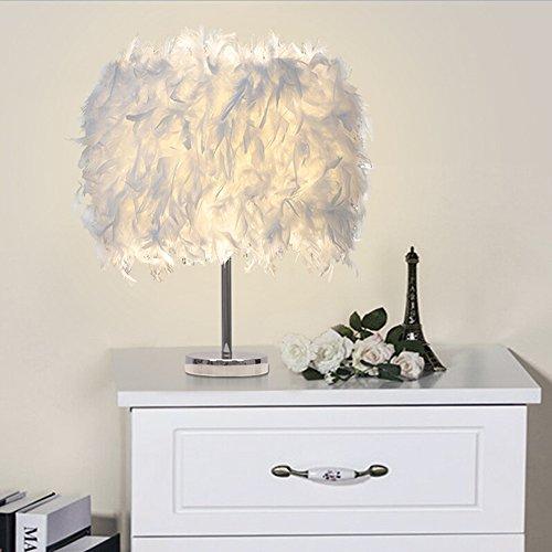 Feather table lamp vintage elegant bedside desk night - Elegant table lamps for living room ...