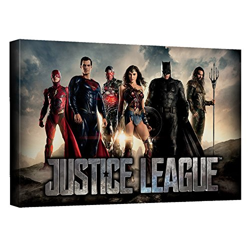 Time for Heroes–ムービー–- - - - - - - - - - - - - - Justice League Stretched Canvas Framed artwrap 12x18 Inches TR-JLM107-ADV2-12x18の商品画像