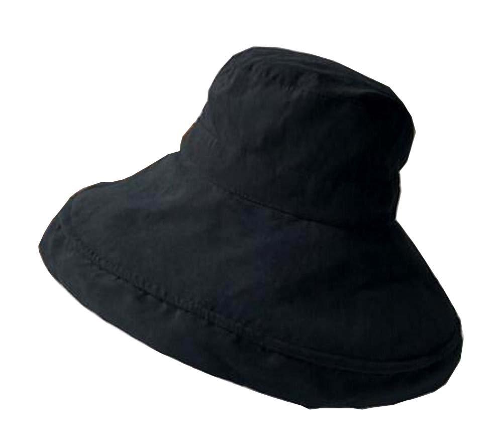 Alien Storehouse [Black-1] Lady Foldable Sun Hat Elegant Top Hat Dress Hat Beach Hat by Alien Storehouse (Image #1)