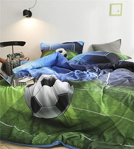 AMOR AMORE 3D Green Football Bedding