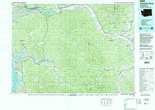 Chehalis River WA topo map, 1:100000 scale, 30 X 60 Minute, Historical, 1992, updated 1993, 27.1 x 38.2 IN - - Central Melbourne Map