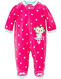Baby Blanket Sleepers Boy or Girl Footie Warm Fleece Footed Pajamas With Frame