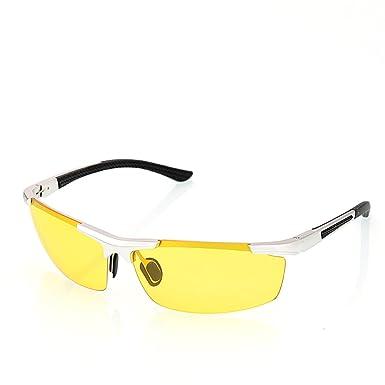 4fd9ec7c189 JUNSAM Eyewear Driver Special Overnight Use Anti-Glare Goggles Eyeglass  Silver