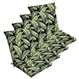 Comfort Classics Inc. Set of 4 Outdoor Dining Chair Cushions 20''x 44''x 3.5''T; H-24 in Polyester Fabric Onyx Cebu by