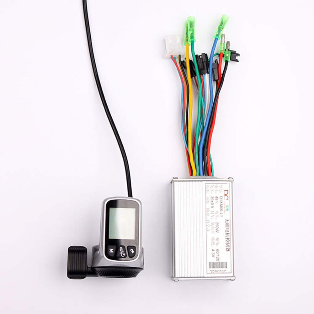 Kunray 250w 350w Electric Bicycle Brushless Dc Motor Wiring Diagram Bldc Controller Wuxing Lcd Dispaly Thumb Throttle Lithium Battery Ccontroller