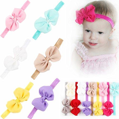 Cheveux Bows Head Bandeaux Girl Roewell® 10 Pcs Porter bébé Flower bande infantile de cheveux (10 pcs)