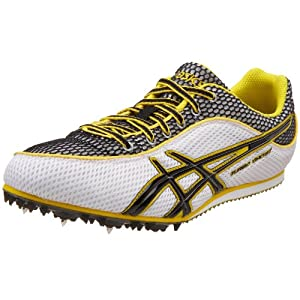 ASICS Men's Turbo Ghost 3 Track and Field Shoe,White/Black/Yellow,10 M