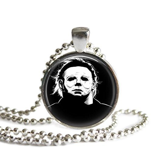 Michael Myers Halloween 1 Inch Silver Plated Pendant Necklace -