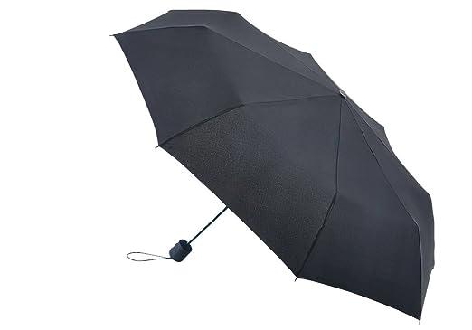 Fulton Hurricane Paraguas para caminar Senderismo Negro, Negro, Talla Única